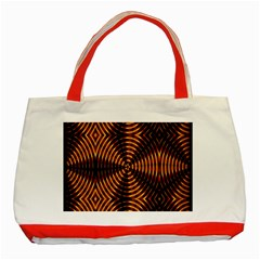 Fractal Pattern Of Fire Color Classic Tote Bag (red) by Simbadda