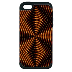 Fractal Pattern Of Fire Color Apple Iphone 5 Hardshell Case (pc+silicone) by Simbadda