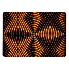 Fractal Pattern Of Fire Color Samsung Galaxy Tab 10 1  P7500 Flip Case by Simbadda