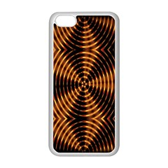 Fractal Pattern Of Fire Color Apple iPhone 5C Seamless Case (White)