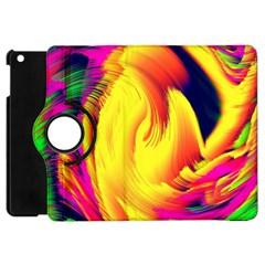Stormy Yellow Wave Abstract Paintwork Apple Ipad Mini Flip 360 Case by Simbadda