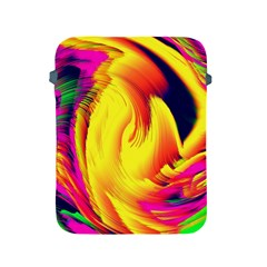 Stormy Yellow Wave Abstract Paintwork Apple Ipad 2/3/4 Protective Soft Cases by Simbadda