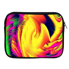 Stormy Yellow Wave Abstract Paintwork Apple Ipad 2/3/4 Zipper Cases by Simbadda