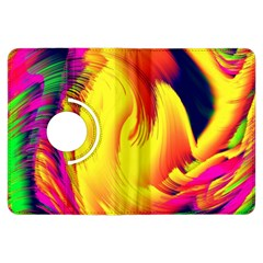 Stormy Yellow Wave Abstract Paintwork Kindle Fire Hdx Flip 360 Case by Simbadda
