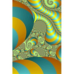 Gold Blue Fractal Worms Background 5 5  X 8 5  Notebooks by Simbadda