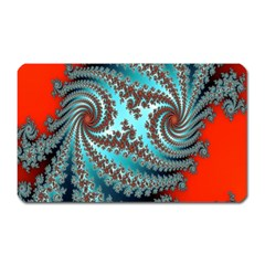 Digital Fractal Pattern Magnet (rectangular) by Simbadda