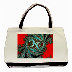 Digital Fractal Pattern Basic Tote Bag by Simbadda