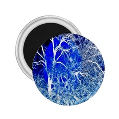 Winter Blue Moon Fractal Forest Background 2 25  Magnets by Simbadda