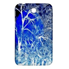 Winter Blue Moon Fractal Forest Background Samsung Galaxy Tab 3 (7 ) P3200 Hardshell Case  by Simbadda