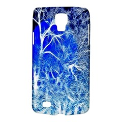 Winter Blue Moon Fractal Forest Background Galaxy S4 Active by Simbadda
