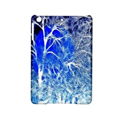 Winter Blue Moon Fractal Forest Background Ipad Mini 2 Hardshell Cases by Simbadda