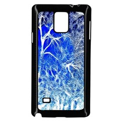 Winter Blue Moon Fractal Forest Background Samsung Galaxy Note 4 Case (black) by Simbadda