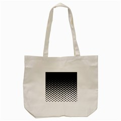 Halftone Gradient Pattern Tote Bag (cream) by Simbadda