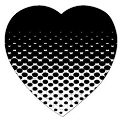 Halftone Gradient Pattern Jigsaw Puzzle (heart) by Simbadda