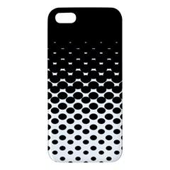 Halftone Gradient Pattern Iphone 5s/ Se Premium Hardshell Case by Simbadda