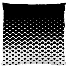 Halftone Gradient Pattern Large Flano Cushion Case (two Sides) by Simbadda