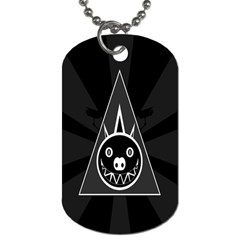 Abstract Pigs Triangle Dog Tag (two Sides) by Simbadda