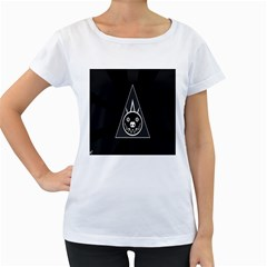 Abstract Pigs Triangle Women s Loose Fit T Shirt (white) by Simbadda