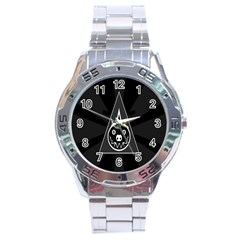 Abstract Pigs Triangle Stainless Steel Analogue Watch by Simbadda