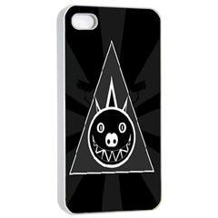 Abstract Pigs Triangle Apple Iphone 4/4s Seamless Case (white) by Simbadda