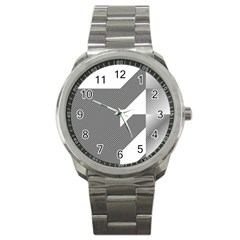 Gradient Base Sport Metal Watch by Simbadda