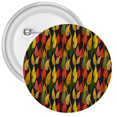 Colorful Leaves Yellow Red Green Grey Rainbow Leaf 3  Buttons by Alisyart