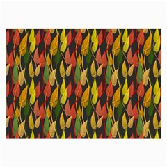 Colorful Leaves Yellow Red Green Grey Rainbow Leaf Large Glasses Cloth by Alisyart
