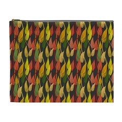 Colorful Leaves Yellow Red Green Grey Rainbow Leaf Cosmetic Bag (xl) by Alisyart