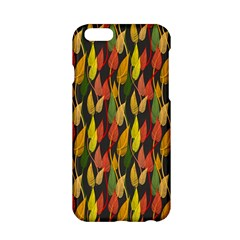 Colorful Leaves Yellow Red Green Grey Rainbow Leaf Apple Iphone 6/6s Hardshell Case by Alisyart
