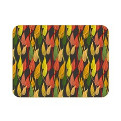 Colorful Leaves Yellow Red Green Grey Rainbow Leaf Double Sided Flano Blanket (mini)  by Alisyart