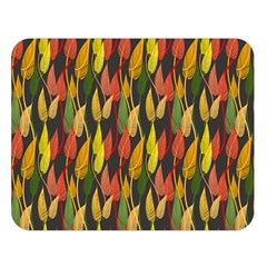 Colorful Leaves Yellow Red Green Grey Rainbow Leaf Double Sided Flano Blanket (large)  by Alisyart