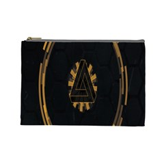 Geometry Interfaces Deus Ex Human Revolution Deus Ex Penrose Triangle Cosmetic Bag (large)  by Simbadda