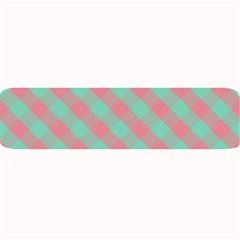 Cross Pink Green Gingham Digital Paper Large Bar Mats by Alisyart