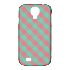 Cross Pink Green Gingham Digital Paper Samsung Galaxy S4 Classic Hardshell Case (pc+silicone) by Alisyart