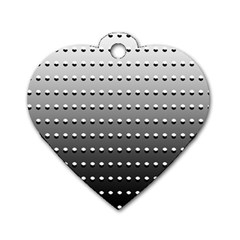 Gradient Oval Pattern Dog Tag Heart (one Side) by Simbadda