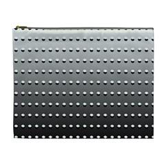 Gradient Oval Pattern Cosmetic Bag (xl) by Simbadda