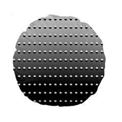 Gradient Oval Pattern Standard 15  Premium Round Cushions by Simbadda