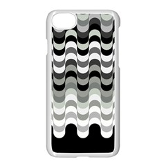Chevron Wave Triangle Waves Grey Black Apple Iphone 7 Seamless Case (white) by Alisyart