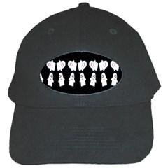 Cute Ghost Pattern Black Cap by Simbadda