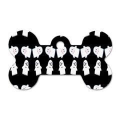 Cute Ghost Pattern Dog Tag Bone (two Sides) by Simbadda