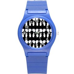 Cute Ghost Pattern Round Plastic Sport Watch (s) by Simbadda