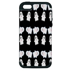 Cute Ghost Pattern Apple Iphone 5 Hardshell Case (pc+silicone) by Simbadda