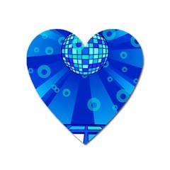 Disco Ball Retina Blue Circle Light Heart Magnet by Alisyart