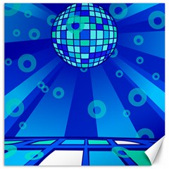 Disco Ball Retina Blue Circle Light Canvas 20  X 20   by Alisyart