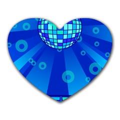 Disco Ball Retina Blue Circle Light Heart Mousepads by Alisyart