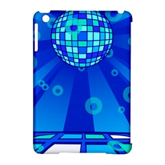 Disco Ball Retina Blue Circle Light Apple Ipad Mini Hardshell Case (compatible With Smart Cover) by Alisyart