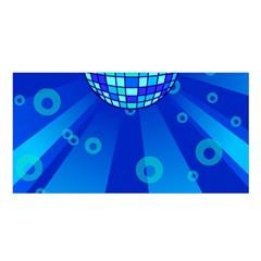Disco Ball Retina Blue Circle Light Satin Shawl by Alisyart