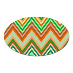 Chevron Wave Color Rainbow Triangle Waves Oval Magnet by Alisyart