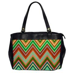 Chevron Wave Color Rainbow Triangle Waves Office Handbags by Alisyart