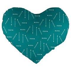 Digital Art Minimalism Abstract Candles Blue Background Fire Large 19  Premium Flano Heart Shape Cushions by Simbadda